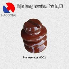 ceramic porcelain glazed pin insulator