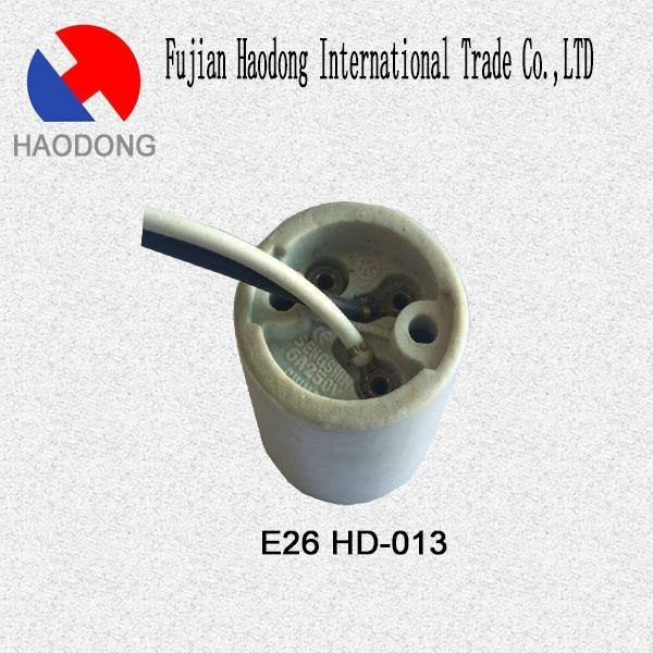 E26 ceramic porcelain lamp holder base socket 2
