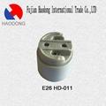 E26 ceramic porcelain lamp holder base socket 4