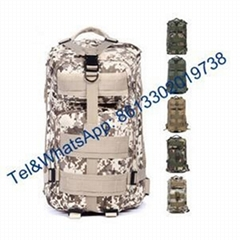 Plain color Digital Camouflage Nylon Oxford Military Backpack Alicebag Rucksack