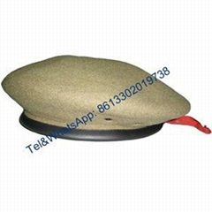 Navy blue army green desert wool polyester nylon Military Beret