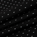 Fuguiniao Mens Slim Polka Dot Paddy Business Polo Shirts Black 3