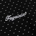 Fuguiniao Mens Slim Polka Dot Paddy Business Polo Shirts Black 5