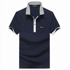 FUGUINIAO Men's Turn-down Collar Short Sleeve Polo Shirts