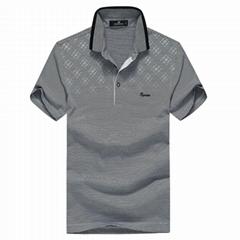 FUGUINIAO Men's Stripe Short Sleeve Polo Shirts for Men