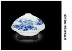 创意陶瓷灯具 手绘青花