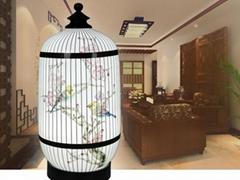创意陶瓷灯具薄胎瓷《鸟语花香》