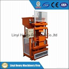 HR1-10 eco maquina clay interlocking brick making machine