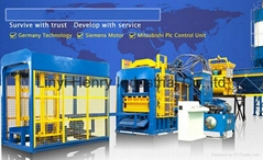 QT10-15 full automatic hydraulic block production line with german technology