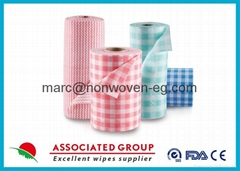 Disposable Kitchen Non Woven Roll Wipes Reusable For Home