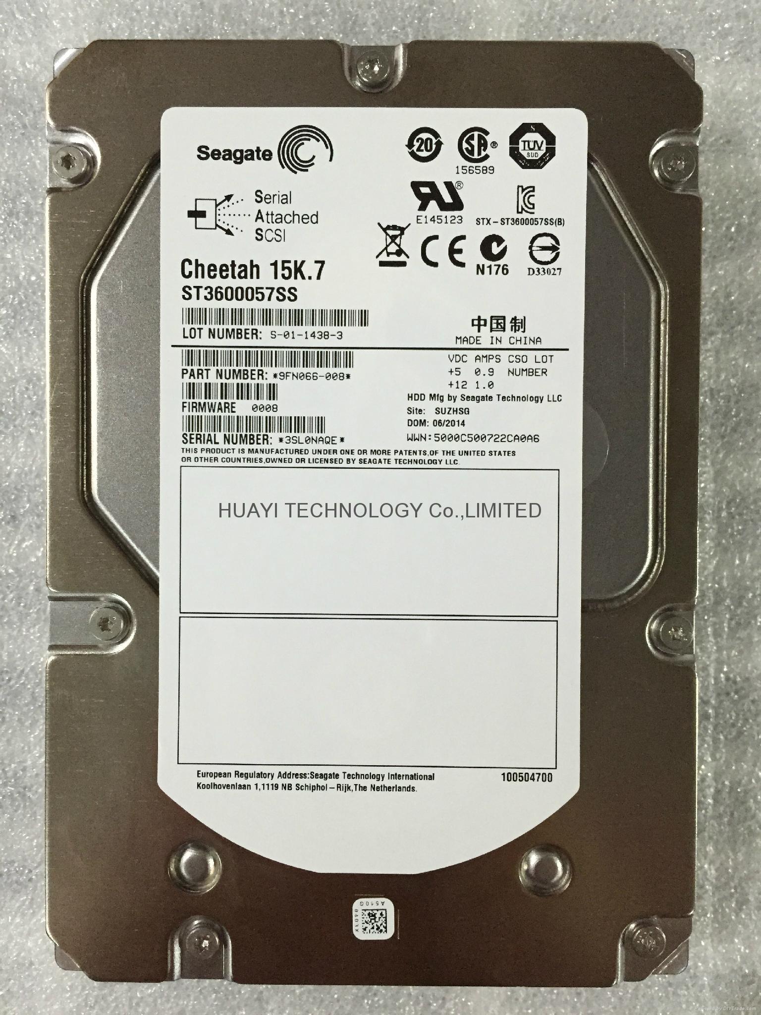 "SEAGATE ST3600057SS 600GB 15000 RPM 3.5/"" SAS Hard Drive"