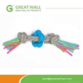 pet products cloth rope toys with blue
