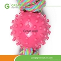lovel candy toy pet toys for dog cloth rope toy with plastic ball 2