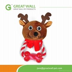 Gift for dog floppy dog plush toys deer animal shaped