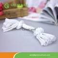 Braided cotton rope knotted pet toy for