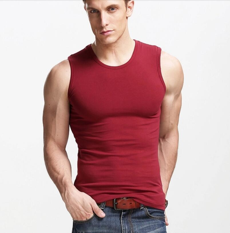 8619a9cd7 Cotton spandex men's plain gym muscle tank top vest singlet with custom  printing 1 ...