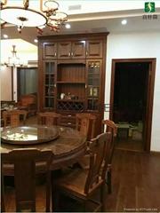 天津北美櫻桃木衣櫃、酒櫃、櫥櫃、實木床傢具案例展示美國橡木