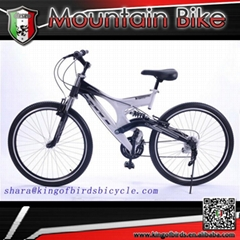 Dual suspension mountain bike 26 inch mtb steel bike