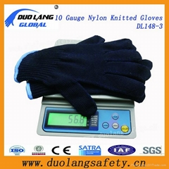7g Black Color Cotton Knitted Work Glove
