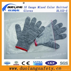 Working Protective Hand 10g Cotton Knitted Gloves