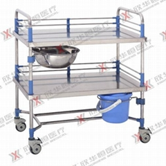 Stainless steel medical trolley hospital dressing trolley