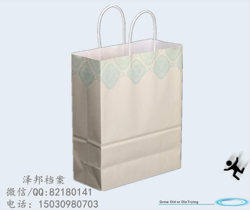 白牛皮纸手提袋 4