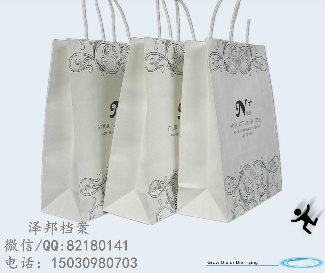 白牛皮纸手提袋 5