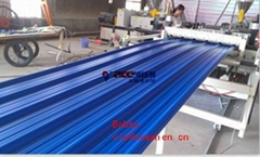 PVC Corrugated Roof Sheet Making Machine with Extruder