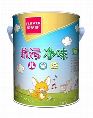Flower Dirt-resistant Odourless Children Emulsion Paint