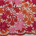 heavy african lace embroidery fabric frenech crochet george multi color lace fro