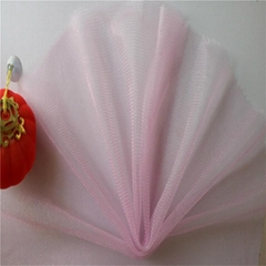 Lavender African Style Lace Netting Shiny Plain Mesh Polyester Fabric Swiss Lace