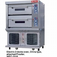 WEC-2Y   P(electric 2 Decks Oven   Attached Proofer)