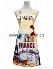 custon design printed cotton apron