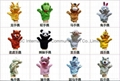 28 style finger plush toys dragon snake horse rabbit tiger panda sheep  2