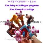 Finger plush puppets story telling animal figure hand puppet cartoon animal toy