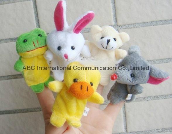Finger plush puppets story telling animal figure hand puppet cartoon animal toy 4