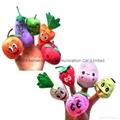 Fruit finger puppet plush toy  vegetable plush puppet finger plush  4