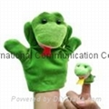 parent-kid hand puppet finger puppet cow