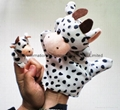 parent-kid hand puppet finger puppet cow big puppet with small cow puppet  4