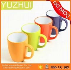 China wholesale hotsale color glazed pottery porcelain cup