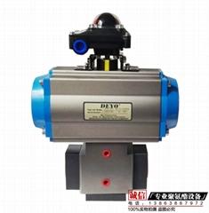 廠家供應聚氨酯氣動切換閥DN25KK閥