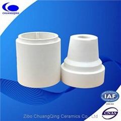 Wear-resistance alumina ceramic cone-shaped tube