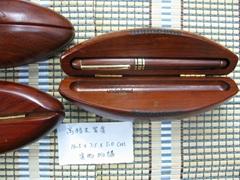 供应新款橄榄菊型高档木笔盒