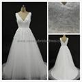 Aline V-Neck Lace & Tulle Wedding Dress Alex02 1