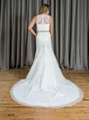 Mermaid & Trumpet High Neck Beading Lace Wedding Dress W19 1