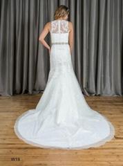 Mermaid & Trumpet High Neck Beading Lace Wedding Dress W19