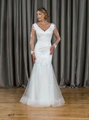 Mermaid & Trumpet V-neck Long Sleeves Lace Wedding Dress W17