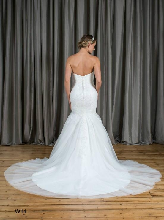 Mermaid & Trumpet Strapless Lace&Tulle Wedding Dress W14 2