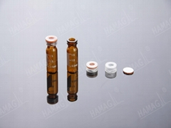 2ml HPLC autosampler vials Snap Ring ND11 glass sample vials with Caps and Septa