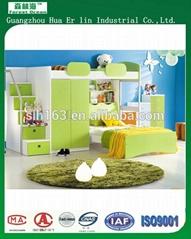 热销儿童带书桌和衣柜的单人/双人床